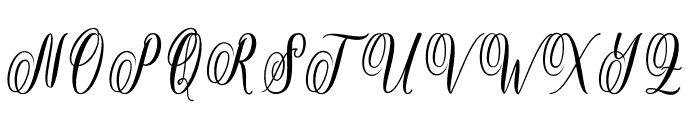 Rossithea Font UPPERCASE