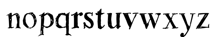 Rough Draught Font LOWERCASE