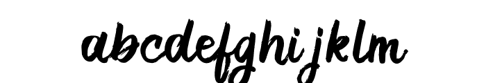 RoughSketch Font LOWERCASE