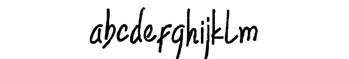 Rowdy Regular Font LOWERCASE