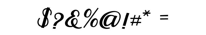 RumbleScript Font OTHER CHARS