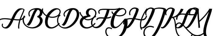 RumbleScript Font UPPERCASE