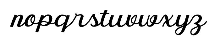 RumbleScript Font LOWERCASE