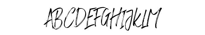 RushtardBrush-Regular Font UPPERCASE