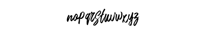 RushtardBrush-Regular Font LOWERCASE