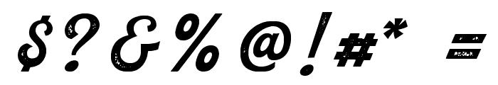 RustedOrlandoBoldScriptStam Font OTHER CHARS