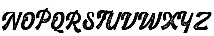 RustedOrlandoBoldScriptStam Font UPPERCASE