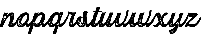 RustedOrlandoBoldScriptStam Font LOWERCASE