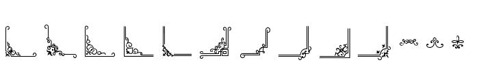 RustedOrlandoFrames Font LOWERCASE