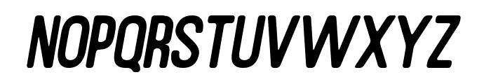 RustedOrlandoSansSlantRound Font UPPERCASE