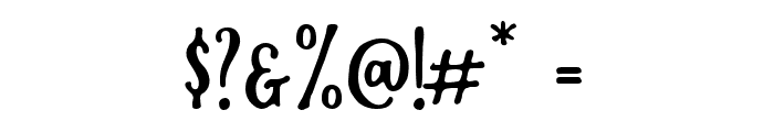 RustedOrlandoSerif Font OTHER CHARS