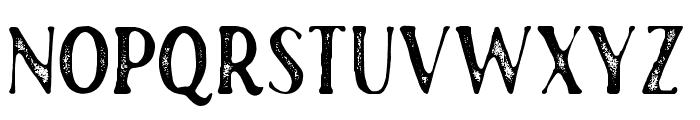RustedOrlandoSerifStamp Font UPPERCASE