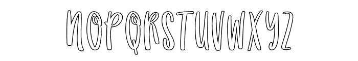 Rustic Barista Outline Font UPPERCASE
