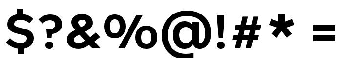 Rutan DemiBold Font OTHER CHARS