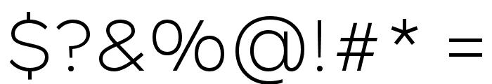 Rutan Light Font OTHER CHARS