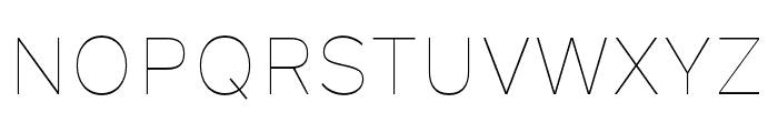 Rutan Thin Font UPPERCASE