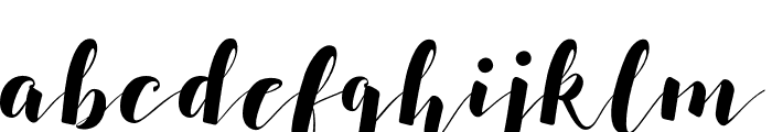 SALSABILLA Font LOWERCASE