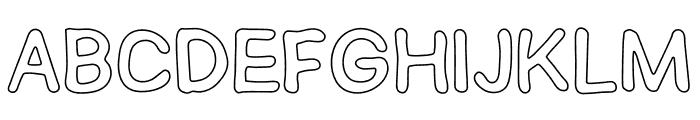 SEMERU Outline Font UPPERCASE