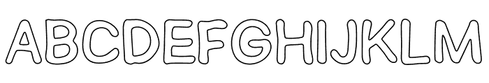 SEMERU Outline Font LOWERCASE