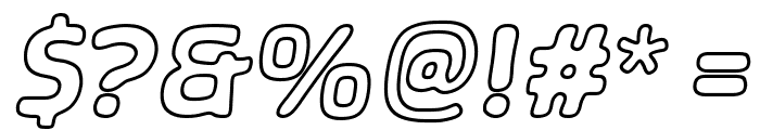 SHA Outline Italic Font OTHER CHARS