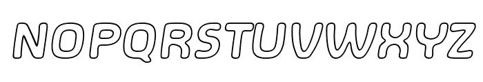 SHA Outline Italic Font UPPERCASE