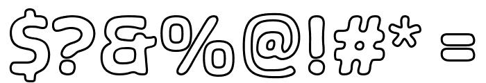 SHA Outline Font OTHER CHARS