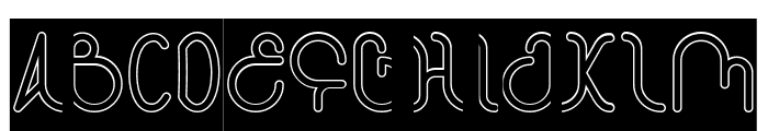 STAR CONSTELLATION-Hollow-Inver Font UPPERCASE