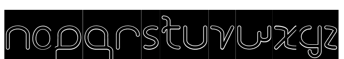 STAR CONSTELLATION-Hollow-Inver Font LOWERCASE