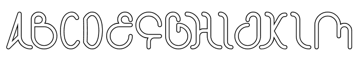 STAR CONSTELLATION-Hollow Font UPPERCASE
