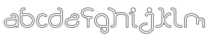 STAR CONSTELLATION-Hollow Font LOWERCASE