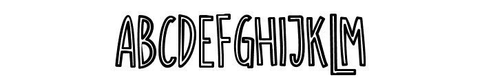SUGAR VANILA OUTLINE Font LOWERCASE