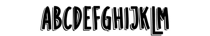SUGAR VANILA SHADOW Font UPPERCASE