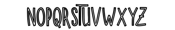 SUGARVANILAOUTLINE Font LOWERCASE