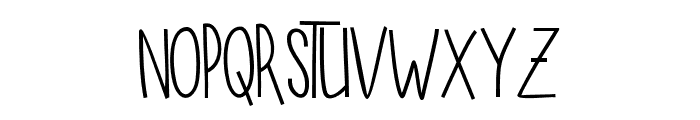 SUGARVANILAREGULAR Font UPPERCASE