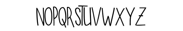 SUGARVANILAREGULAR Font LOWERCASE