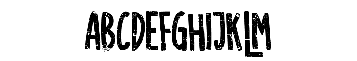 SUGARVANILAROUGH Font LOWERCASE