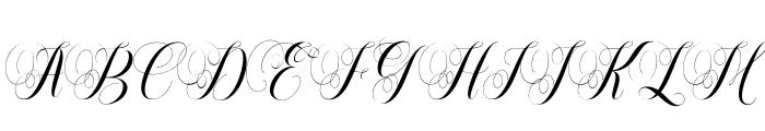 Safelight Script Font UPPERCASE