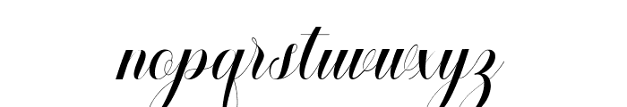 Safelight Script Font LOWERCASE