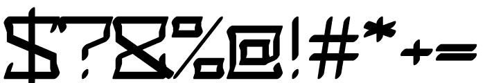 Safrax regular Font OTHER CHARS