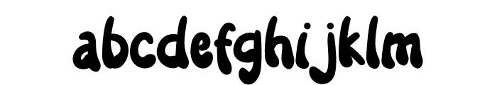 Salmon Hamburger Font LOWERCASE
