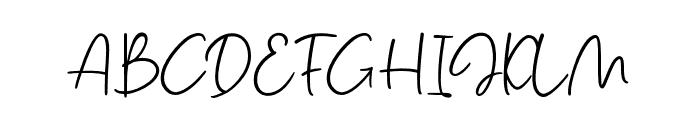 SalmonScript Font UPPERCASE