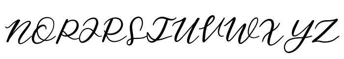 SalmonSugarScript Regular Font UPPERCASE