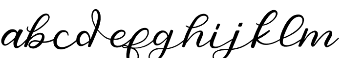 SalmonSugarScript Regular Font LOWERCASE