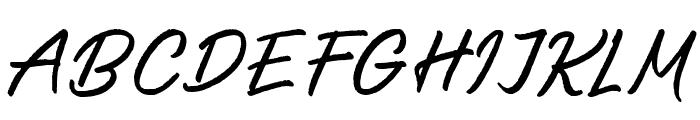 SalteryAlternateRough Font UPPERCASE