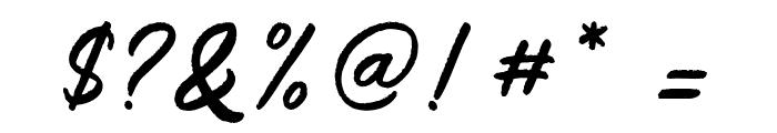 SalteryRough Font OTHER CHARS