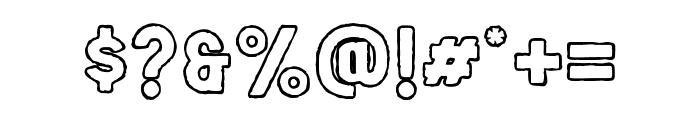Salveation-SlabOutlineRough Font OTHER CHARS