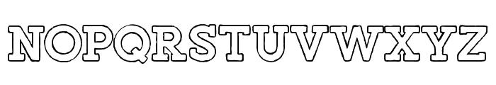 Salveation-SlabOutlineRough Font UPPERCASE