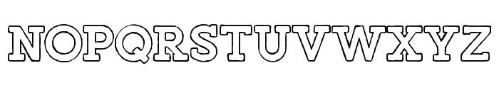 Salveation-SlabOutlineRough Font LOWERCASE
