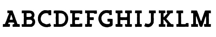 Salveation-SlabRough Font UPPERCASE