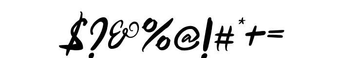 Samurai Warrior Italic Font OTHER CHARS